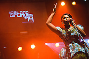 Photos of Ibibio Sound Machine performing live at Reykjavik Art Museum during Iceland Airwaves Music Festival 2014 in Reykjavik, Iceland. November 7, 2014. Copyright © 2014 Matthew Eisman. All Rights Reserved