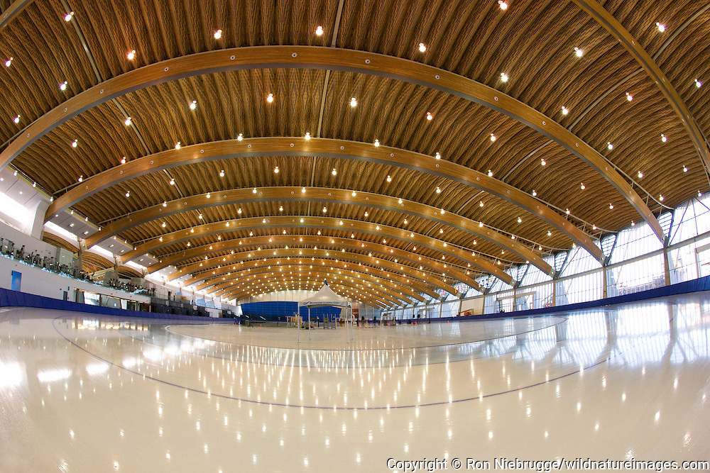 Richmond Olympic Oval, speed skating venue for the 2010 Vancouver Winter Olympics, British Columbia, Canada.