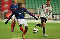 Fotball , 5. nov 2012, Tippeligaen Eliteserien , Sogndal - Vålerenga<br /> Tosaint Ricketts, VIF. Per Egil Flo, Sogndal<br /> Foto: Christian Blom , Digitalsport