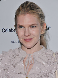 Lily Rabe arrives at Jessie Tyler Ferguson's 'Tie The Knot' 5 Year Anniversary celebration held at NeueHouse Hollywood in Los Angeles, CA on Thursday, October 12, 2017. (Photo By Sthanlee B. Mirador/Sipa USA)