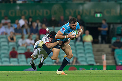 March 23, 2019 - Sydney, NSW, U.S. - SYDNEY, NSW - MARCH 23: Waratahs player Adam Ashley-Cooper (13) is tackled by Crusaders player Matt Todd (7) at round 6 of Super Rugby between NSW Waratahs and Crusaders on March 23, 2019 at The Sydney Cricket Ground, NSW. (Photo by Speed Media/Icon Sportswire) (Credit Image: © Speed Media/Icon SMI via ZUMA Press)