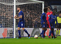 Football - 2018 / 2019 Europa League - Round of Thirty-Two, Second Leg: Chelsea (2) vs. Malmo FF (1)<br /> <br /> Olivier Giroud of Chelsea celebrates scoring his second half goal, at Stamford Bridge.<br /> <br /> COLORSPORT/ANDREW COWIE