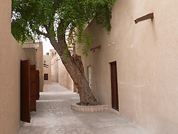 Alleyway in historic Bastakia Quarter Bur Dubai, Dubai, United Arab Emirates, UAE