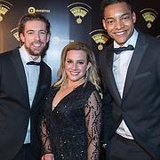NLD/Hilversum/20180125 - Gouden RadioRing Gala 2017, Mattie Valk, Fien Vermeulen en Igmar Felicia