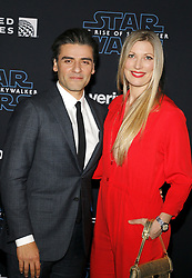 Oscar Isaac and Elvira Lind at the World premiere of Disney's 'Star Wars: The Rise Of Skywalker' held at the Dolby Theatre in Hollywood, USA on December 16, 2019.
