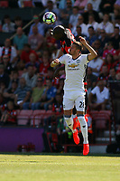 Football - 2016 / 2017 Premier League - AFC Bournemouth vs. Manchester United<br /> Bournemouth's Benik Afobe out jumps Manchester United's Morgan Schneiderlin to win a header at Dean Court (The Vitality Stadium) Bournemouth<br /> <br /> Colorsport/Shaun Boggust