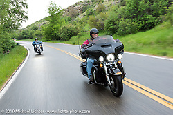Paul Neiman of Fort Collins, CO on his 2014 Ultra Limited riding from Thunder Mountain Harley-Davidson in Loveland, Colorado to the Rocky Mountain HOG Rally in Steamboat Springs. USA. Wednesday June 7, 2017. Photography ©2017 Michael Lichter.
