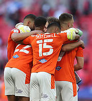 Blackpool's Chris Maxwell leads the celebrations at the final whistle<br /> <br /> Photographer Rob Newell/CameraSport<br /> <br /> The EFL Sky Bet League One Play-Off Final - Blackpool v Lincoln City - Sunday 30th May 2021 - Wembley Stadium - London<br /> <br /> World Copyright © 2021 CameraSport. All rights reserved. 43 Linden Ave. Countesthorpe. Leicester. England. LE8 5PG - Tel: +44 (0) 116 277 4147 - admin@camerasport.com - www.camerasport.com