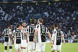 March 14, 2018 - Turin, Piedmont, Italy - Gonzalo Higuain (Juventus FC) celebrates after scoring during the Serie A football match between Juventus FC and Atalanta BC at Allianz Stadium on 14 March, 2018 in Turin, Italy. (Credit Image: © Massimiliano Ferraro/NurPhoto via ZUMA Press)