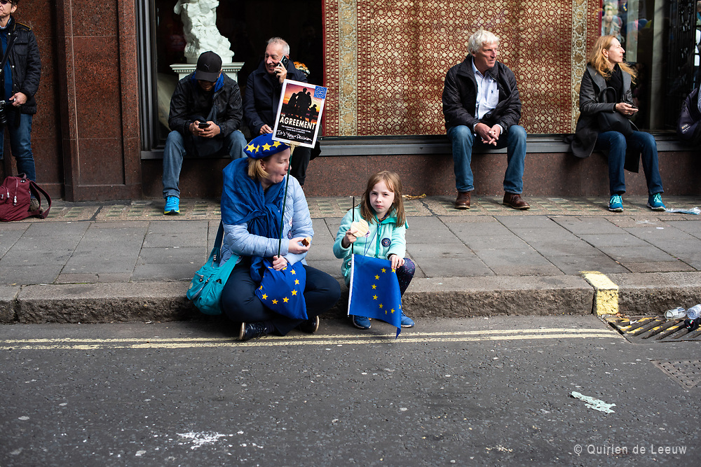 Mother and child during the People's Vote March, London