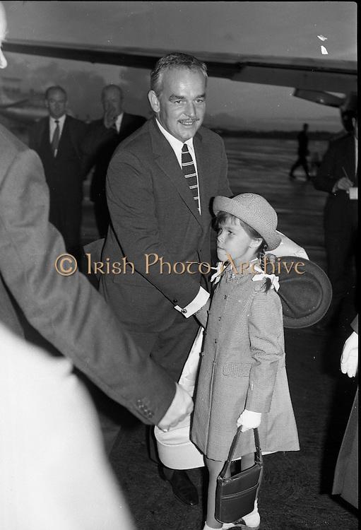 Princess Grace & Prince Rainier arrive at Dublin Airport..20.08.1963..