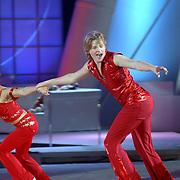 NLD/Hilversum/20070309 - 9e Live uitzending SBS Sterrendansen op het IJs 2007, Thomas Berge en danspartner Nina Ulanova