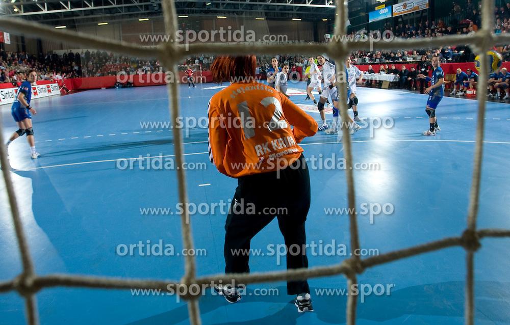 Goalkeeper of Krim Sergeja Stefanisin at EHF Champions league handball match in Group II between RK Krim Mercator and Gyori Audi Eto KC, on February 7, 2009, in Kodeljevo, Ljubljana, Slovenia. Gyori won 35:31. (Photo by Vid Ponikvar / Sportida)