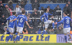 Birmingham City's Jota (second from right) celebrates scoring against Hull City during the match at St Andrew's Stadium