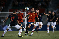 September 11, 2018 - Alicante, Alicante, Spain - Saul Niguez (C) of Spain competes for the ball with Ivan Rakitic (R) and Ivan Santini of Croatia during the UEFA Nations League A group four match between Spain and Croatia at Martinez Valero  on September 11, 2018 in Elche, Spain  (Credit Image: © David Aliaga/NurPhoto/ZUMA Press)