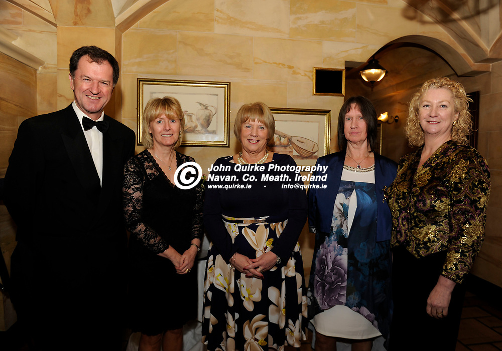 24-11-17. Meath Business and Tourism Awards 2017 at the Newgrange Hotel, Navan.<br /> L to R: Frank Mulrennan, Patricia Rogers, Patricia Halleran, Marian Caffrey and Theresa Mulrennan.<br /> Photo: John Quirke / www.quirke.ie<br /> ©John Quirke Photography, Unit 17, Blackcastle Shopping Cte. Navan. Co. Meath. 046-9079044 / 087-2579454.