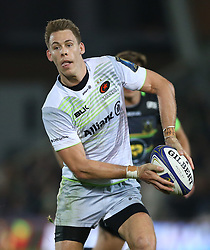 Saracens Liam Williams during the Champions Cup match at Franklin's Gardens, Northampton. PRESS ASSOCIATION Photo. Picture date: Sunday October 15, 2017. See PA story RUGBYU Northampton. Photo credit should read: Nigel French/PA Wire. RESTRICTIONS: Editorial use only. No commercial use.