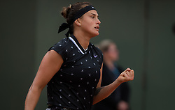 May 30, 2019 - Paris, FRANCE - Aryna Sabalenka of Belarus in action during the second-round at the 2019 Roland Garros Grand Slam tennis tournament (Credit Image: © AFP7 via ZUMA Wire)