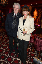 LESLIE BRICUSSE and EVIE BRICUSSE a party to celebrate the publication of 'Passion for Life' by Joan Collins held at No41 The Westbury Hotel, Mayfair, London on21st October 2013.
