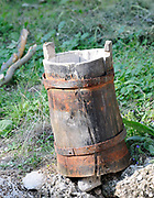 A wooden bucket. Near Shkodër, Albania. 02Sep15