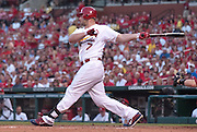 08 July 2011            St. Louis Cardinals left fielder Matt Holliday (7) follows through on a swing. The Arizona Diamondbacks beat the St. Louis Cardinals 7-6 in the second game of a four game series on Friday July 8, 2011 at Busch Stadium in downtown St. Louis.