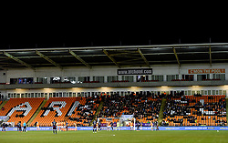 A general view of the empty seats during the Emirates FA Cup, third round match at Bloomfield Road, Blackpool.