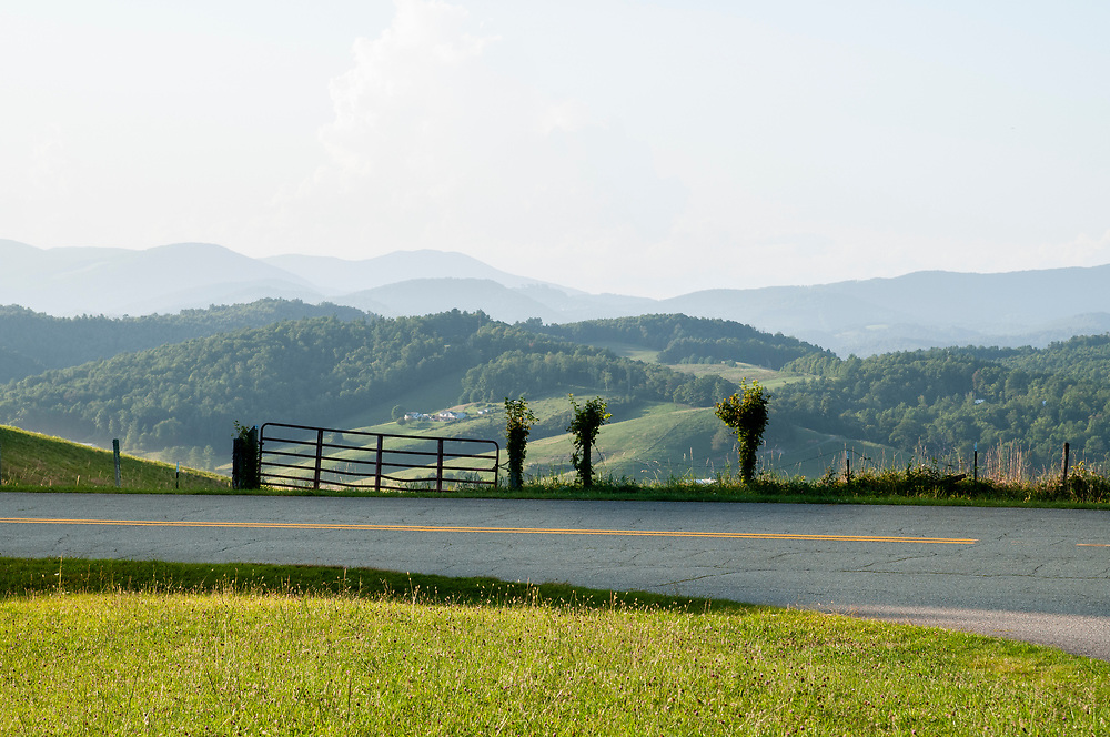 View opposite of the Osborne Mountain Overlook on the Blue Ridge Parkway in North Carolina on Saturday, August 28, 2021. Copyright 2021 Jason Barnette