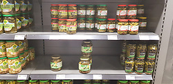 13.03.2020, Freiburg, GER, Coronavirus in Deutschland, Hamsterkauf im Supermarkt, aufgrund der Ausbreitung des Corona Virus kaufen die Menschen überdurschnittlich viel Lebesmittel und Hygieneartikel ein was zu Hamsterkäufen in den Supermärkten fürt, im Bild Konserven, // during buying hamsters in the supermarket, the Due to the spread of the Corona Virus, people buy a lot of food and hygiene products, which leads to hamster purchases. in Freiburg, Germany on 2020/03/13. EXPA Pictures © 2020, PhotoCredit: EXPA/ Eibner-Pressefoto/ Fleig<br /> <br /> *****ATTENTION - OUT of GER*****