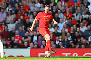 Jamie Carragher of Liverpool legends team in action. Liverpool Legends  v Real Madrid Legends, Charity match for the LFC Foundation at the Anfield stadium in Liverpool, Merseyside on Saturday 25th March 2017.<br /> pic by Chris Stading, Andrew Orchard sports photography.