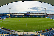 General view inside Priestfield Stadium showing the new pitch during the EFL Sky Bet League 1 match between Gillingham and Southend United at the MEMS Priestfield Stadium, Gillingham, England on 13 October 2018.