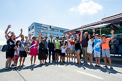 Andrej Hauptman with his family and friends at reception of Primoz Roglic, Olympic gold medalist during his arrival from Tokyo 2020 on July 30, 2021 in Airport Joze Pucnik, Brnik, Ljubljana, Slovenia. Photo by Matic Klansek Velej / Sportida