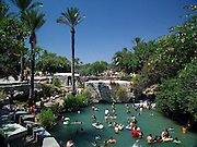 people and swimmers, Sachne aka Gan Hashlosha, the park of the three, is a natural spring and pools that were dammed up to be used for flour mills. Now these pools are used for sport and recreation