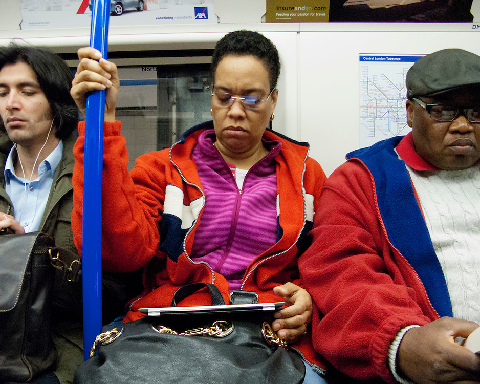 Portrait of commuters on the London Underground Network