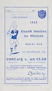 Munster Junior Hurling Finals. Cork v Clare. 31.07.1955, 07.31.1955, 31st July 1955.Cork 5-10 Claire 4-04