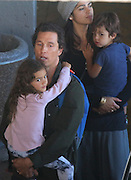 """EXCLUSIVE<br /> Matthew Mc Conaughey and his wife Camila Alves jetted in to Cape Town with their 3 children, Levi, Livingstone and Vida on Sunday evening. Matthew is due to start work on his latest movie, Stephen King's """"The Dark Tower"""". He will be filming alongside Idris Elba and Canadian actress Kathryn Winnick. The family later had dinner at a popular seaside restaurant where Camila was seen dashing out mid-order to grab a quick ice cream for her and the children. <br /> ©Starpics/Exclusivepix Media"""