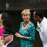 NLD/Amsterdam/20080802 - Canal Parade 2008 Amsterdam, politicus Guusje ter Horst