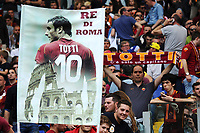 Sciarpe e striscioni per Francesco Totti. Scarf and banner for Totti <br /> Roma 03-04-2016 Stadio Olimpico Football Calcio Serie A 2015/2016 Lazio - AS Roma Foto Andrea Staccioli / Insidefoto