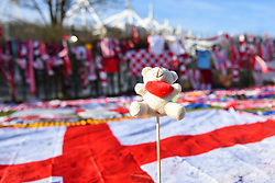February 23, 2019 - Stoke On Trent, England, United Kingdom - Teddy bear with red heart left in memory of Gordon Banks OBE during the Sky Bet Championship match between Stoke City and Aston Villa at the Britannia Stadium, Stoke-on-Trent on Saturday 23rd February 2019. (Credit Image: © Mi News/NurPhoto via ZUMA Press)
