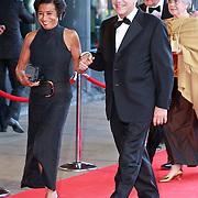 NLD/Amsterdam/20110527 - 40ste verjaardag Prinses Maxima, Gerrit Zalm en partner Lydia Brouwer - van Gonzenbach