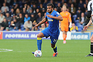AFC Wimbledon midfielder Tom Soares (19) dribbling during the EFL Sky Bet League 1 match between AFC Wimbledon and Rochdale at the Cherry Red Records Stadium, Kingston, England on 30 September 2017. Photo by Matthew Redman.