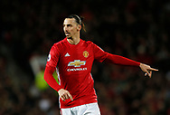 Zlatan Ibrahimovic of Manchester United during the English Premier League match at Old Trafford Stadium, Manchester. Picture date: April 4th 2017. Pic credit should read: Simon Bellis/Sportimage