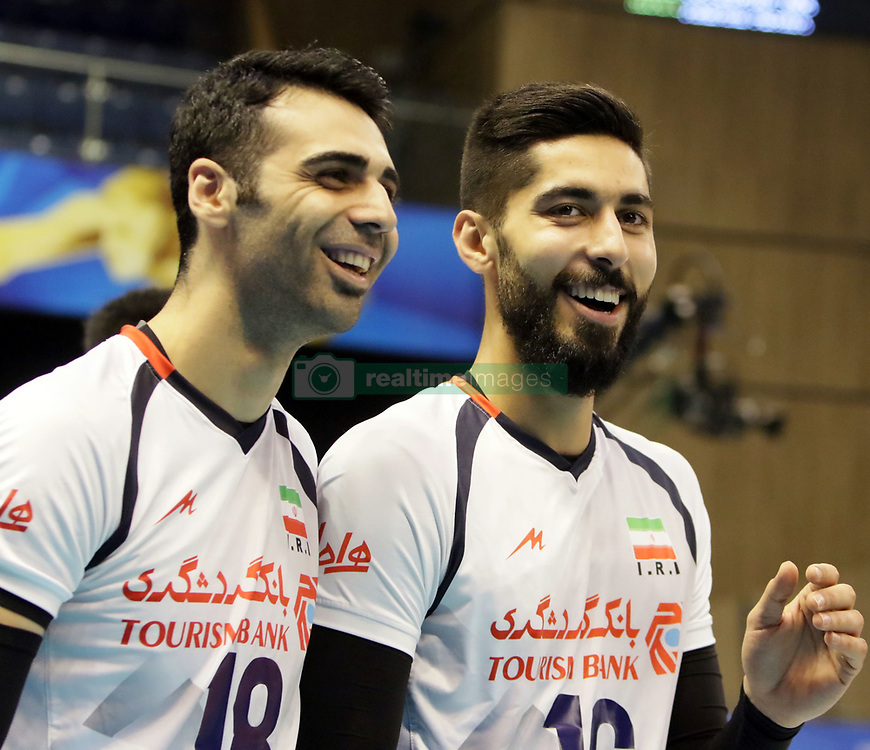 September 12, 2018 - Varna, Bulgaria - from left Mohammad Taher VADI (Iran), Ali SHAFIEI (Iran), .FIVB Volleyball Men's World Championship 2018, pool D, Iran vs Puerto Rico,. Palace of Culture and Sport, Varna/Bulgaria, .the teams of Finland, Cuba, Puerto Rico, Poland, Iran and co-host Bulgaria are playing in pool D in the preliminary round. (Credit Image: © Wolfgang Fehrmann/ZUMA Wire)