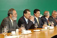 12 MAY 2003, BERLIN/GERMANY:<br /> Senator Enrique Jackson (2nd Person from left), President of the Senat of Mexico, and Jorge Eduardo Navarrete (L), Ambassador of Mexico in Germany, during a meeting with Norbert Lammert (not in the picture), Vicepresident of the German Bundestag, Reichstagsgebaeude<br /> IMAGE: 20030512-03-008