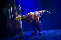 Shoolchildren from Stockwell Primary School meet the dinosaur puppets from Erth's Dinosaur Zoo  <br /> Part of Southbank Centre's Imagine Children's Festival photo by Brian Jordan