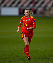 NEWPORT, WALES - Thursday, October 22, 2020: Wales' Josie Green during the UEFA Women's Euro 2022 England Qualifying Round Group C match between Wales Women and Faroe Islands Women at Rodney Parade. Wales won 4-0. (Pic by David Rawcliffe/Propaganda)
