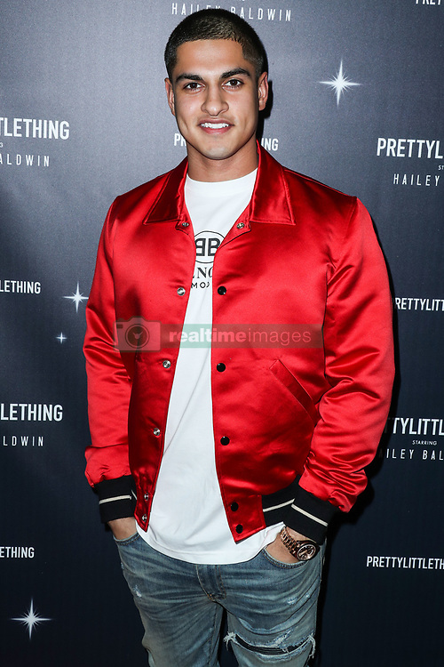 WEST HOLLYWOOD, LOS ANGELES, CA, USA - NOVEMBER 05: PrettyLittleThing X Hailey Baldwin Launch Event held at Catch LA Restaurant on November 5, 2018 in West Hollywood, Los Angeles, California, United States. 05 Nov 2018 Pictured: Samir Kamani. Photo credit: Xavier Collin/Image Press Agency/MEGA TheMegaAgency.com +1 888 505 6342