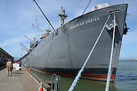 World War II liberty ship, Jeremiah O'Brien, one of numerous tourist attactions at Fisherman's Wharf, San Francisco, California, USA. Over 2700 of these vessels were built to ferry much-needed supplies to wartime Britain. 201304131389<br /> <br /> Copyright Image from Victor Patterson, 54 Dorchester Park, Belfast, UK, BT9 6RJ<br /> <br /> Tel: +44 28 9066 1296<br /> Mob: +44 7802 353836<br /> Voicemail +44 20 8816 7153<br /> Skype: victorpattersonbelfast<br /> Email: victorpatterson@me.com<br /> Email: victorpatterson@ireland.com (back-up)<br /> <br /> IMPORTANT: If you wish to use this image or any other of my images please go to www.victorpatterson.com and click on the Terms & Conditions. Then contact me by email or phone with the reference number(s) of the image(s) concerned.