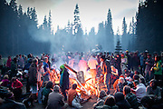 "The yearly gathering of the Rainbow Family of Living Light took place in the  Gifford Pinchot National Forest, in the Washington State, near Portland...Rainbow Gatherings are temporary intentional communities, typically held in outdoor settings, and espousing and practicing ideals of peace, love, harmony, freedom and community, as a consciously expressed alternative to mainstream popular culture, consumerism, capitalism and mass media. These gatherings are an expression of a Utopian impulse, combined with bohemianism, hipster and hippie culture, with roots clearly traceable to the 1960s' counterculture. ..A 4-weeks road trip across the USA, from New York to San Francisco, on the steps of Jack Kerouac's famous book ""On the Road"".  Focusing on nomadic America: people that live on the move across the US, out of ideology or for work reasons."