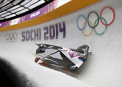Feb. 16, 2014 - Sochi, RUS - USA's Steven Holcomb and Steven Langton head down Turn 5 in the two-man bobsled at the Sanki Sliding Center during the Winter Olympic Games in Sochi, Russia, on Sunday, Feb. 16, 2014. (Credit Image: © Nhat V. Meyer/TNS/ZUMAPRESS.com)