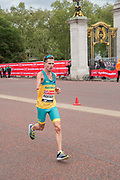 Australian para-athlete Michael Roeger running at The Mall during The Virgin London Marathon on 28th April 2019 in London in the United Kingdom. Now in it's 39th year, the London Marathon is a large sporting event with over 40,000 runners expected to take part.